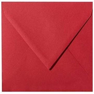 1 Briefumschlag 13,0 x 13,0 cm 130 x 130 mm Rosen Rot Verschluss: feuchtklebend
