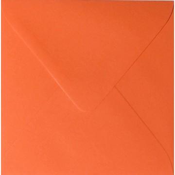 1 Briefumschläge 10,0 x 10,0 cm 100 x 100 mm Mandarine Verschluss: feuchtklebend