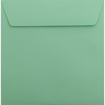 1 Briefumschlag 18,5 x 18,5 cm 185 x 185 mm Hell Grün : Kuverts mit Haftstreifen Grammatur: 120 g/m²