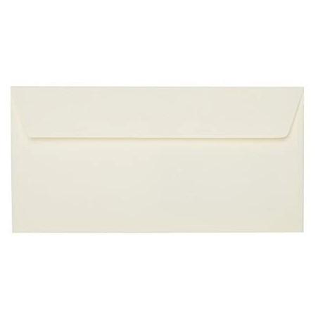 1 Briefumschlag Zart Creme Din lang 11 x 22 cm mit Haftstreifen