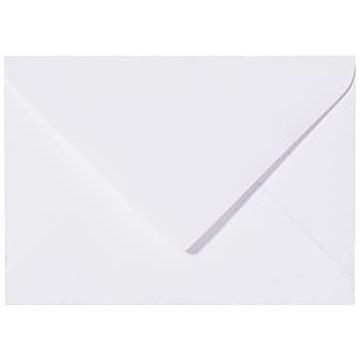 1-Briefumschläge C6 DIN (114-162 cm) - Weiß, Feuchtklebend mit Dreieck Lasche (Weiß) mit Innenfutter Grau ! Grammatur: 100 g/m²