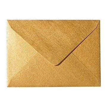 1 Briefumschlag Mini Gold 5,1 x 7,0 cm Verschluss-Technik: feuchtklebend
