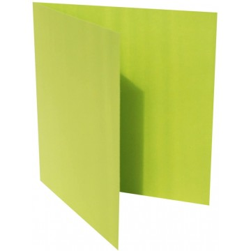 1-Quadratische Klappkarten zum selbst Beschriften in Hell Grün : von der Größe 95 x 95 mm 9,5 x 9,5 cm Grammabe: 300 g/m²