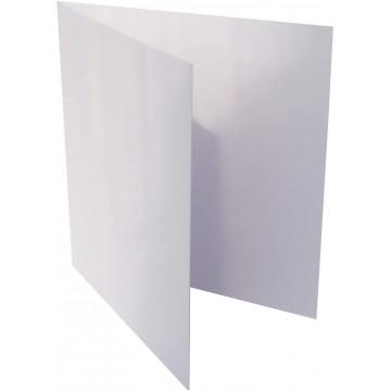 1-Quadratische Klappkarten zum selbst Beschriften in Weiß : von der Größe 105 x 105 mm 10,5 x 10,5 cm Grammabe: 300 g/m²