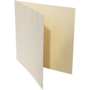 1-Quadratische Klappkarte zum selbst Beschriften in Zart Creme von der Größe 12,5 x 12,5 mm 125 x 125 cm Grammatur: 300 g/m²