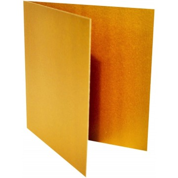 1-Quadratische Klappkarte zum selbst Beschriften in Gold Metallic von der Größe 12,5 x 12,5 mm 125 x 125 cm Grammatur: 300 g/m²