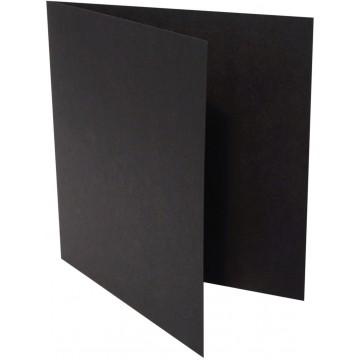 1-Quadratische Klappkarte zum selbst Beschriften in Schwarz von der Größe 130 x 130 mm 13 x 13 cm Grammatur: 300 g/m²