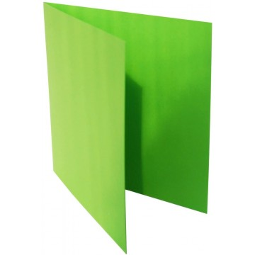 1-Quadratische Klappkarte zum selbst Beschriften in Gras Grün von der Größe 135 x 135 mm 13,5 x 13,5 cm Grammatur: 300 g/m²