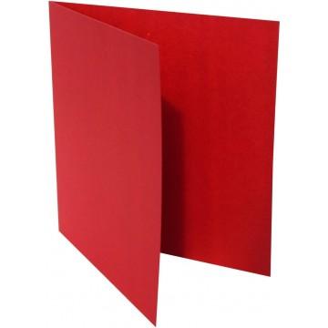 1-Quadratische Klappkarte zum selbst Beschriften in Rosen Rot von der Größe 135 x 135 mm 13,5 x 13,5 cm Grammatur: 300 g/m²
